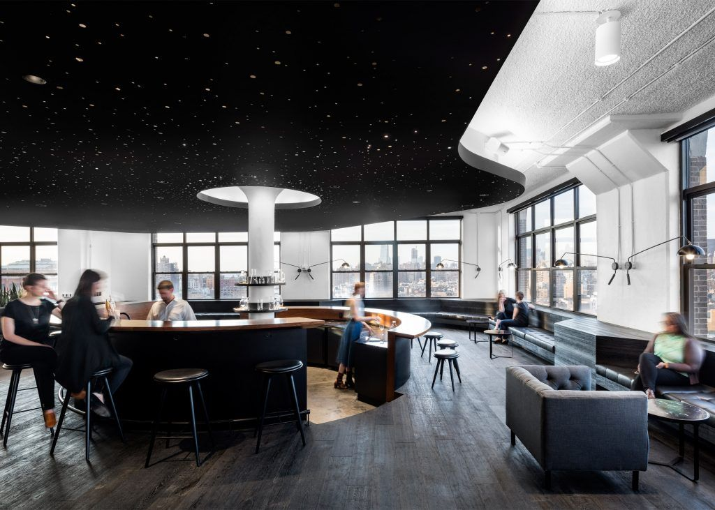 A I Uses Yin Yang Palette For Squarespace Headquarters In New York Office LoungeCity OfficeOffice Interior DesignManhattan