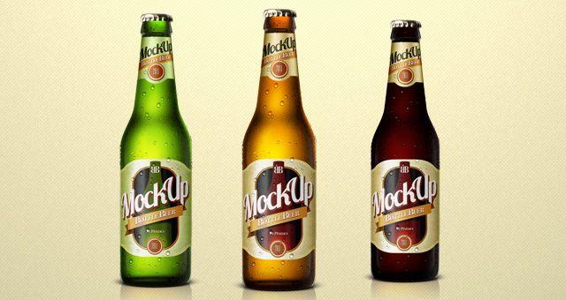 43 Psd Blank Mock Ups Action Files Design Bump Beer Bottle Beer Bottle Design Beer