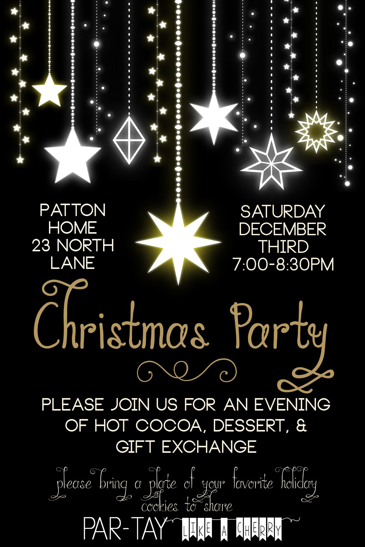 Free Christmas Party Invitation - Party Like a Cherry  Christmas