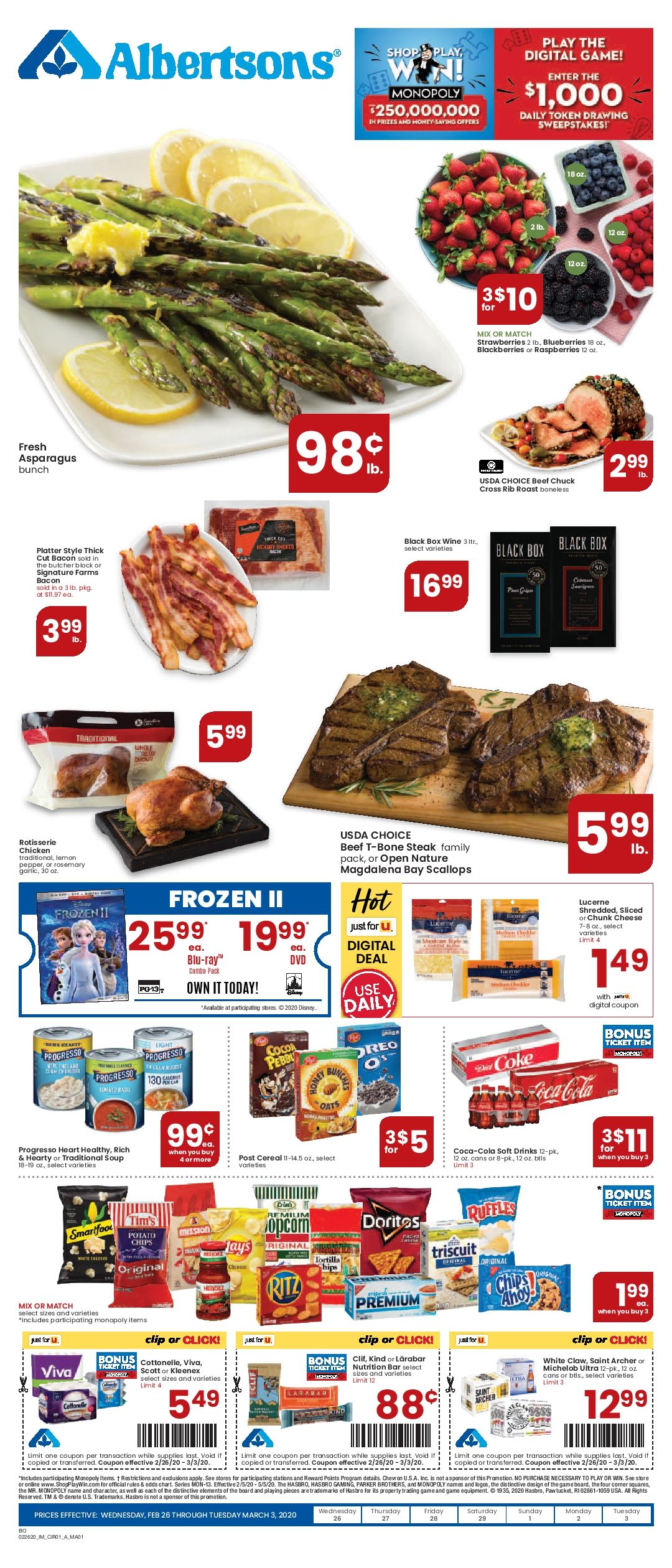 Albertsons Weekly ad Flyer 03/11/20 03/17/20 in 2020