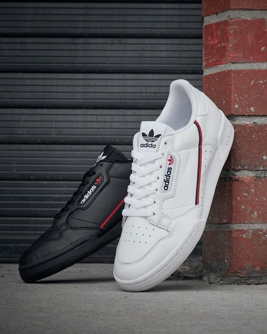 Adidas Continental 80 Trainers WhiteRedNavy in 2020