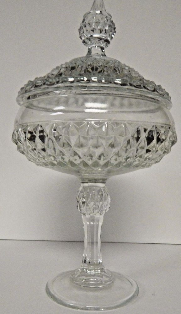 Vintage Clear Covered Candy Dish...In Great Shape