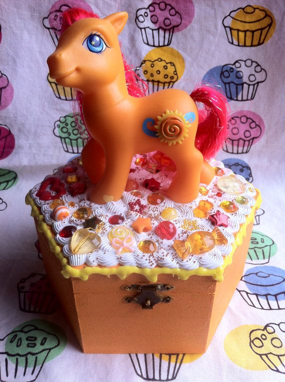 My Little Pony Jewelry Box Classy My Little Pony Jewelry Box Seascape Medium Ooak  Pony Decorating Inspiration