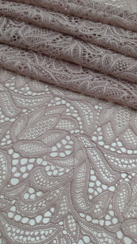 Jacky Parisian Floral Nude Mesh Fabric Sold By The Yard