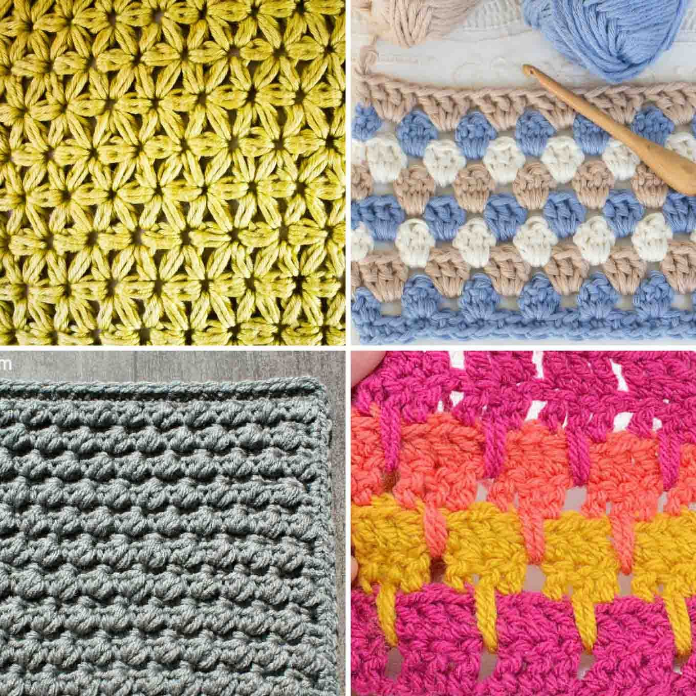 25+ Crochet Stitches For Blankets And Afghans