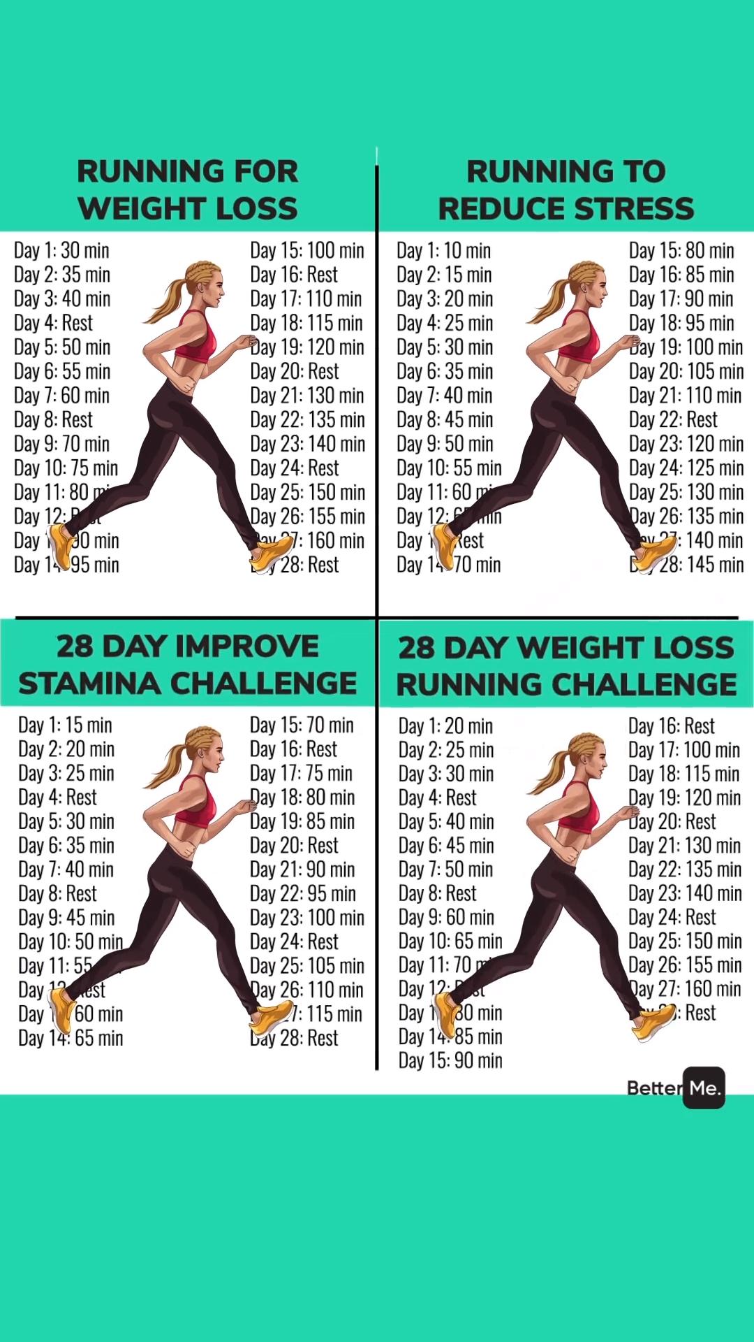 28 Day Running Plan To Lose Weight!