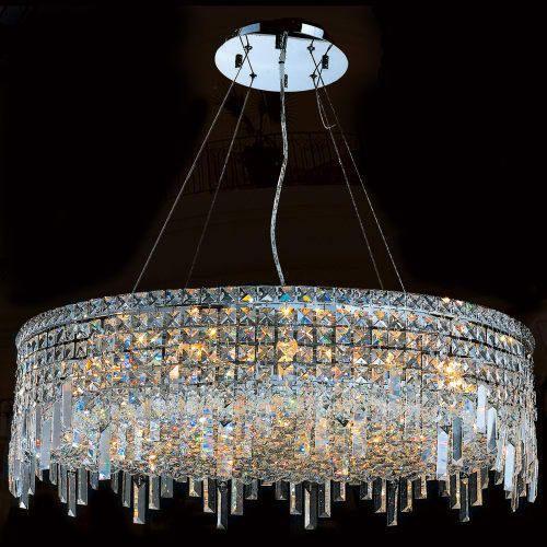 Worldwide Lighting WC Cascade Light Crystal Chandelier - Crystal chandelier installation guide