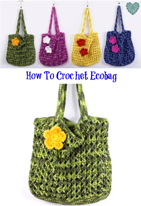 how to crochet Ecobag   CROCHET   Pinterest   Bolsas de genero ...