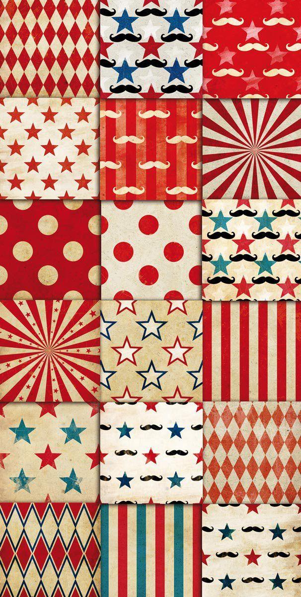 circus wallpaper Vintage