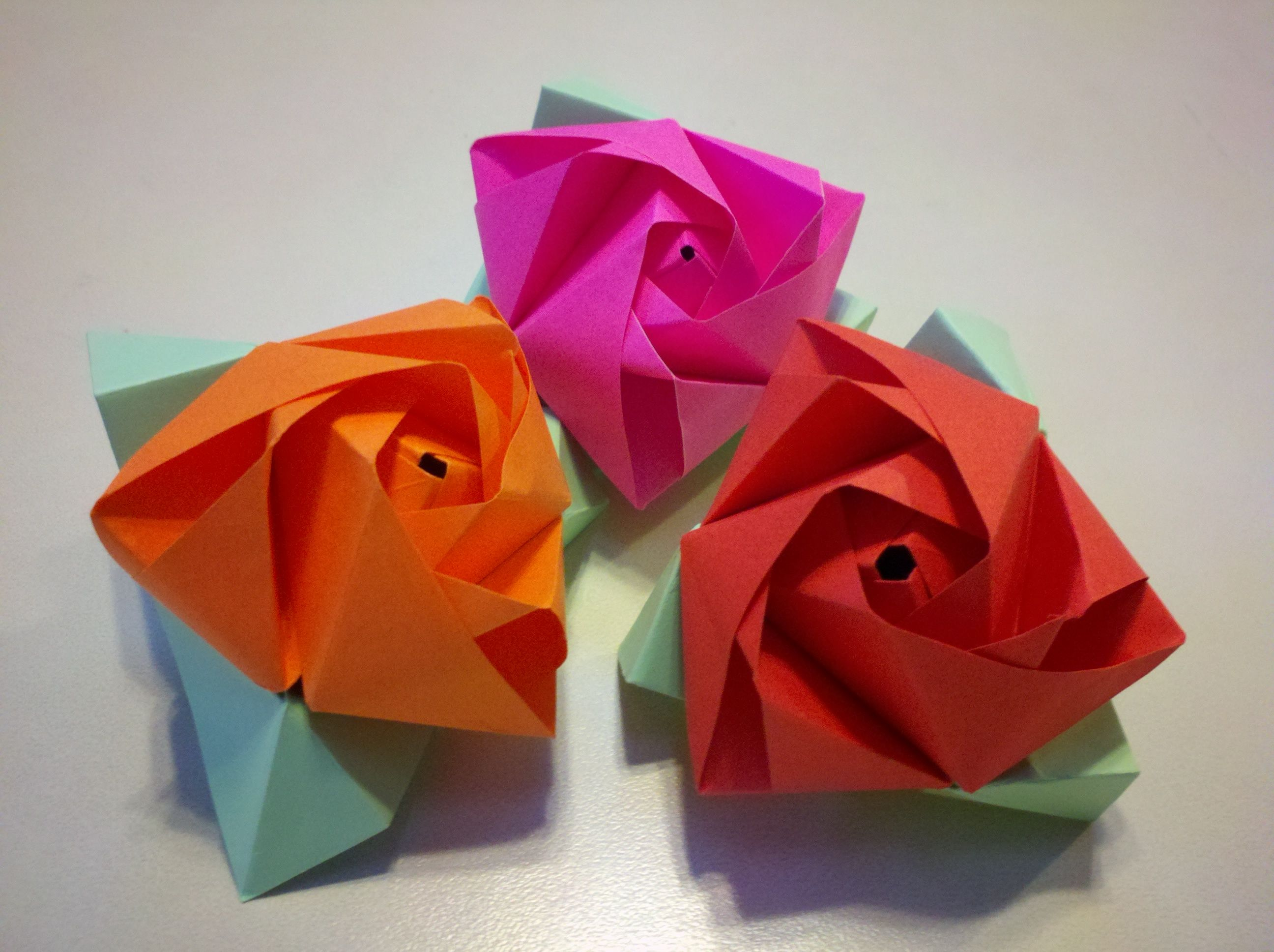 Origami Rose Cube Paper Cube Turns Into A Paper Rose Paper Craft