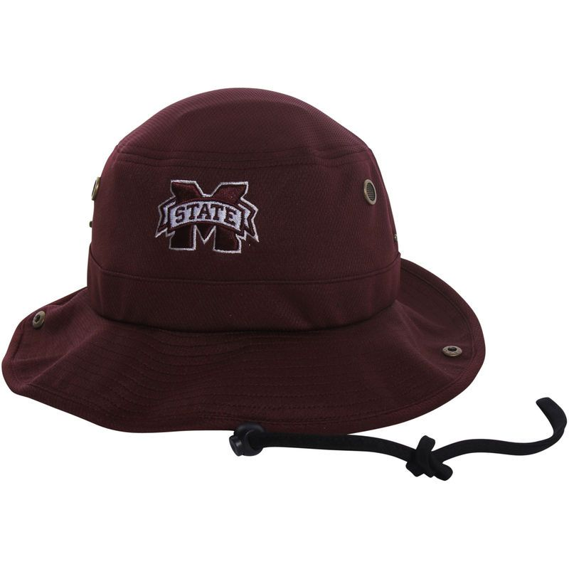 6e59b0b07c4 Mississippi State Bulldogs Top of the World Angler Bucket Hat - Maroon