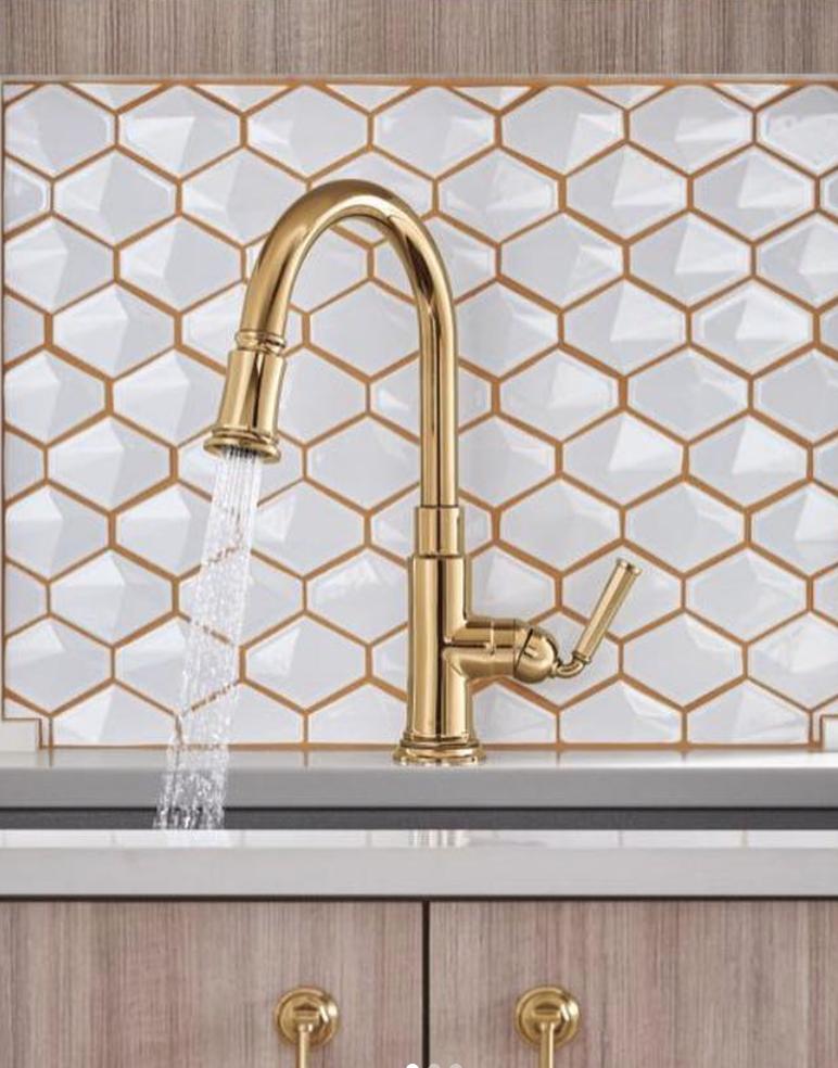 bath trends gold kitchen faucet