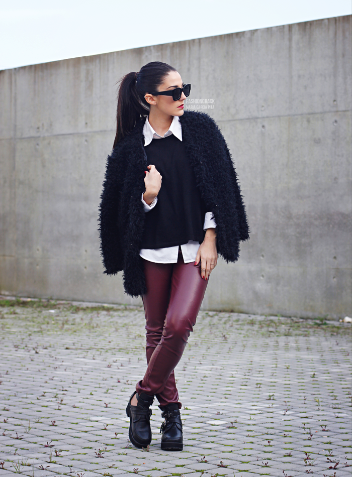 Red Leather and Black Fur