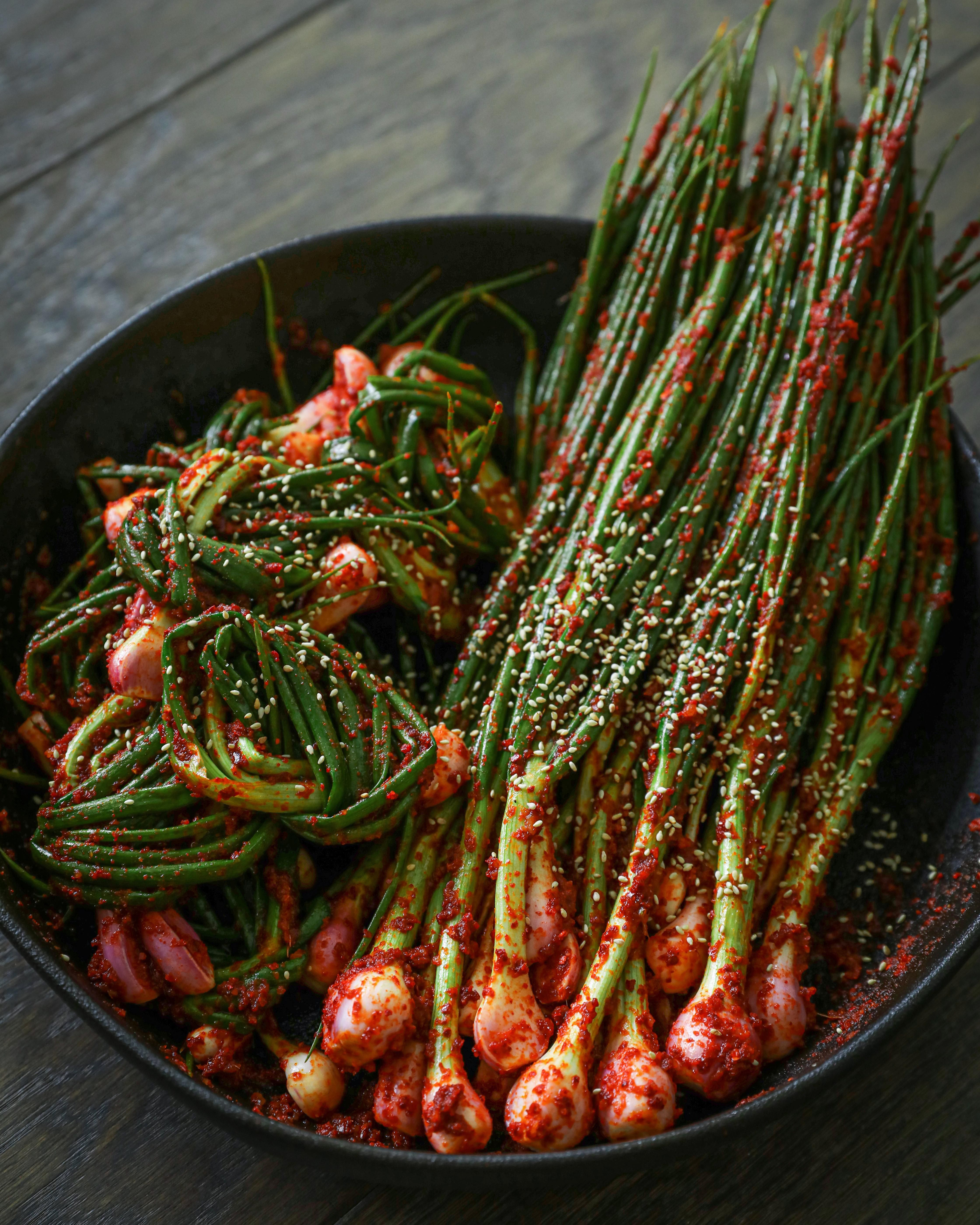 Traditional Green Onion Kimchi