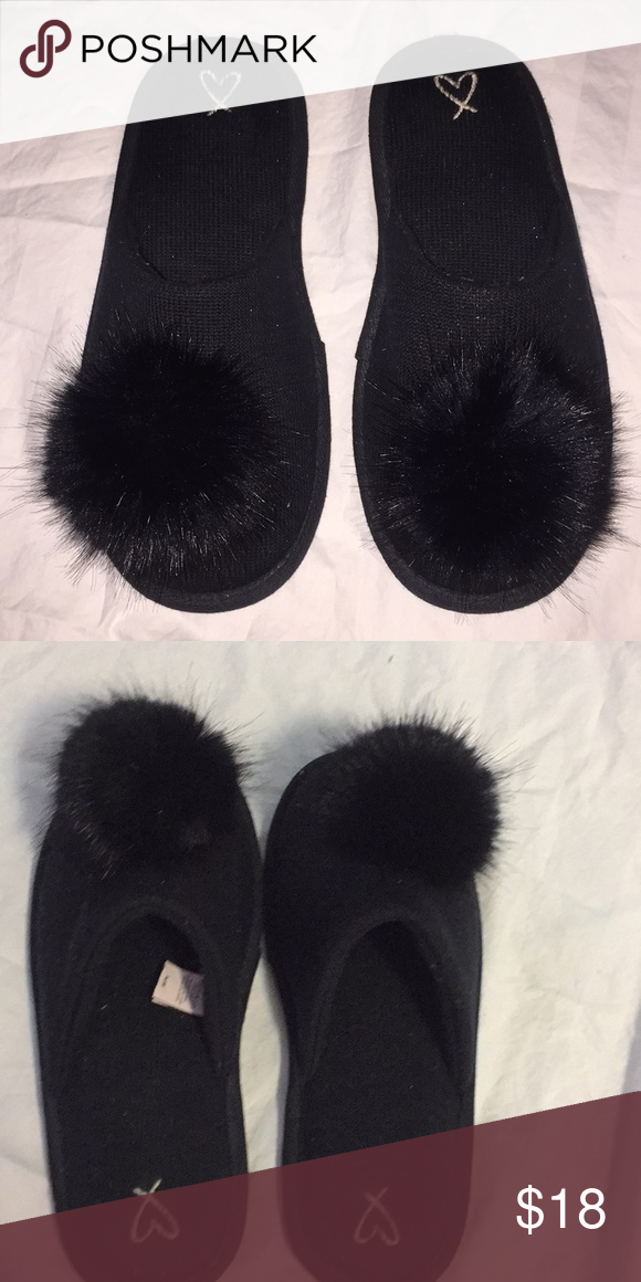 5b2e7f8a91f Victoria s Secrets Pom Pom Slippers - Med 7 8 Preowned slippers. Only used  once or twice. Victoria s Secret Shoes Slippers