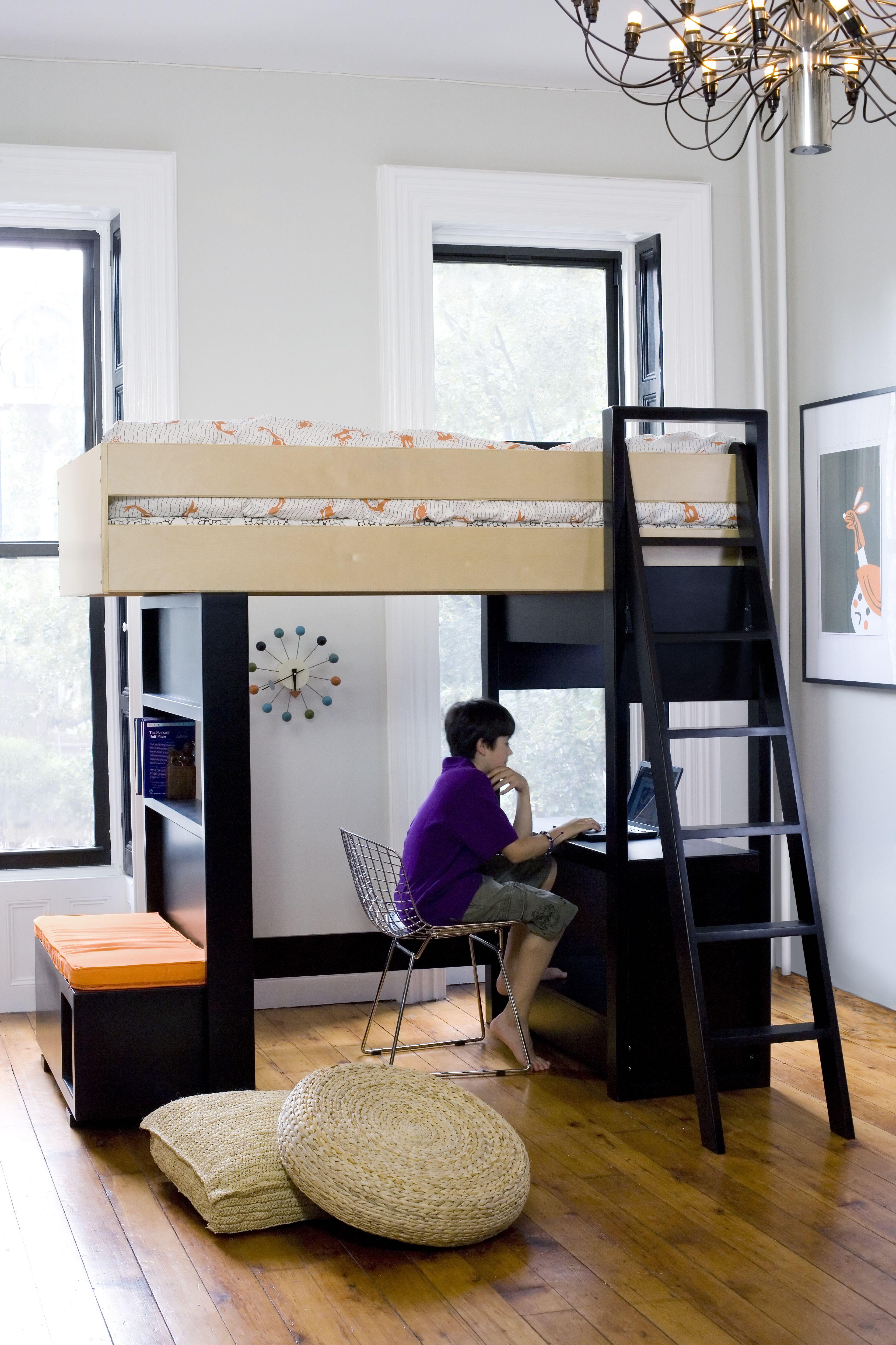 Argington Uffizi Bunk Bed And Fuji Toy Box Used As A Desk Kids