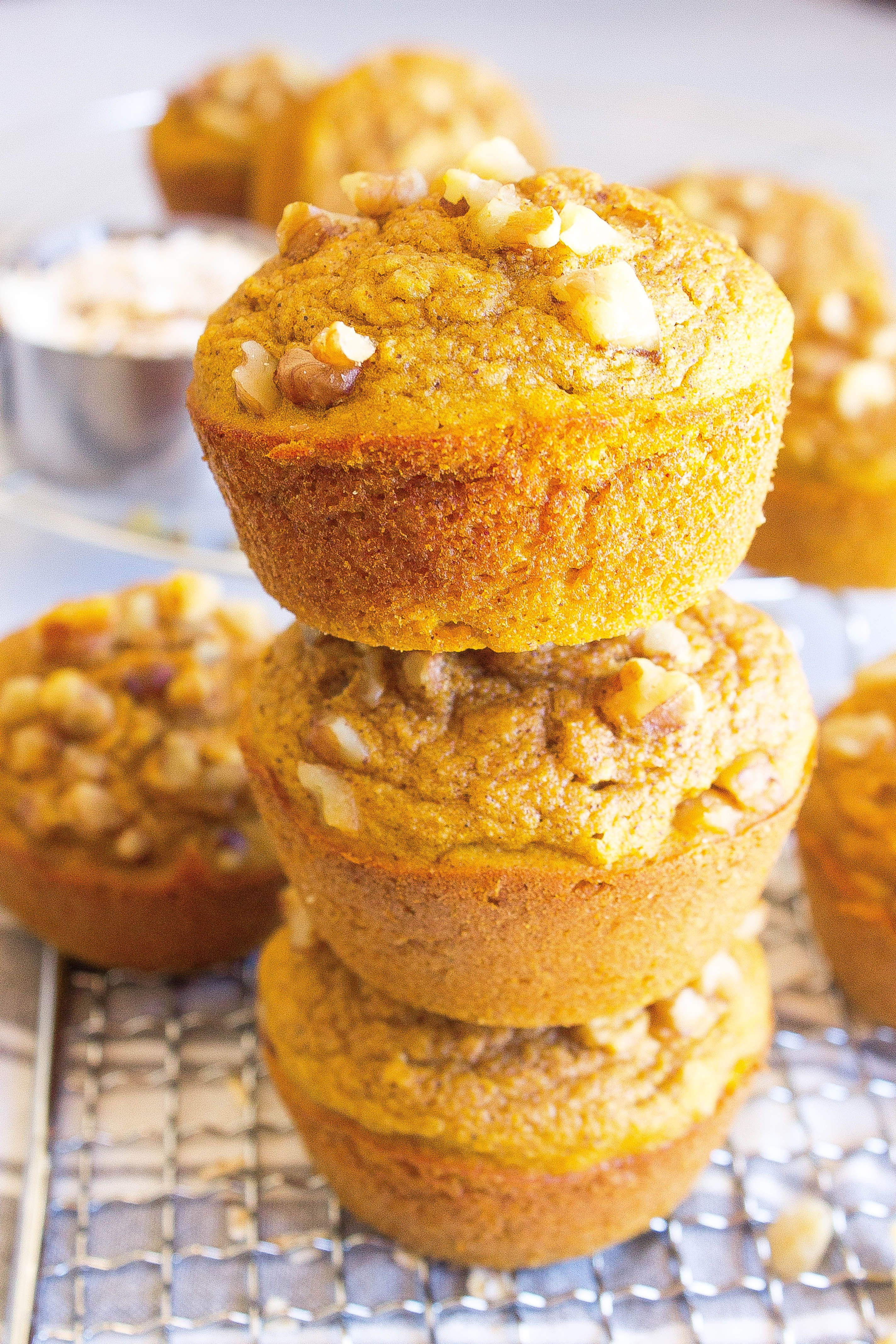 Pumpkin Oat Muffins  Kathryns Kitchen GlutenFree and Healthy These Pumpkin Muffins are naturally slightly sweetened have hints of pumpkin spiceGlutenFree and Healthy Thes...