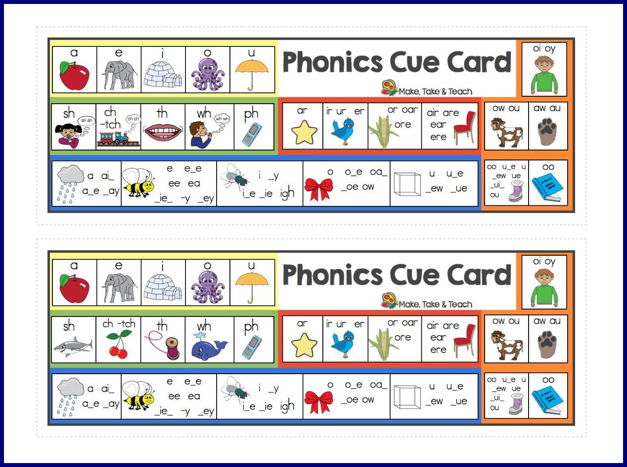 Free Phonics Cue Card | Kind