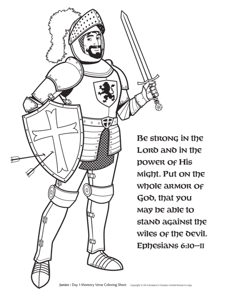 knight coloring - Knight Coloring Pages 2