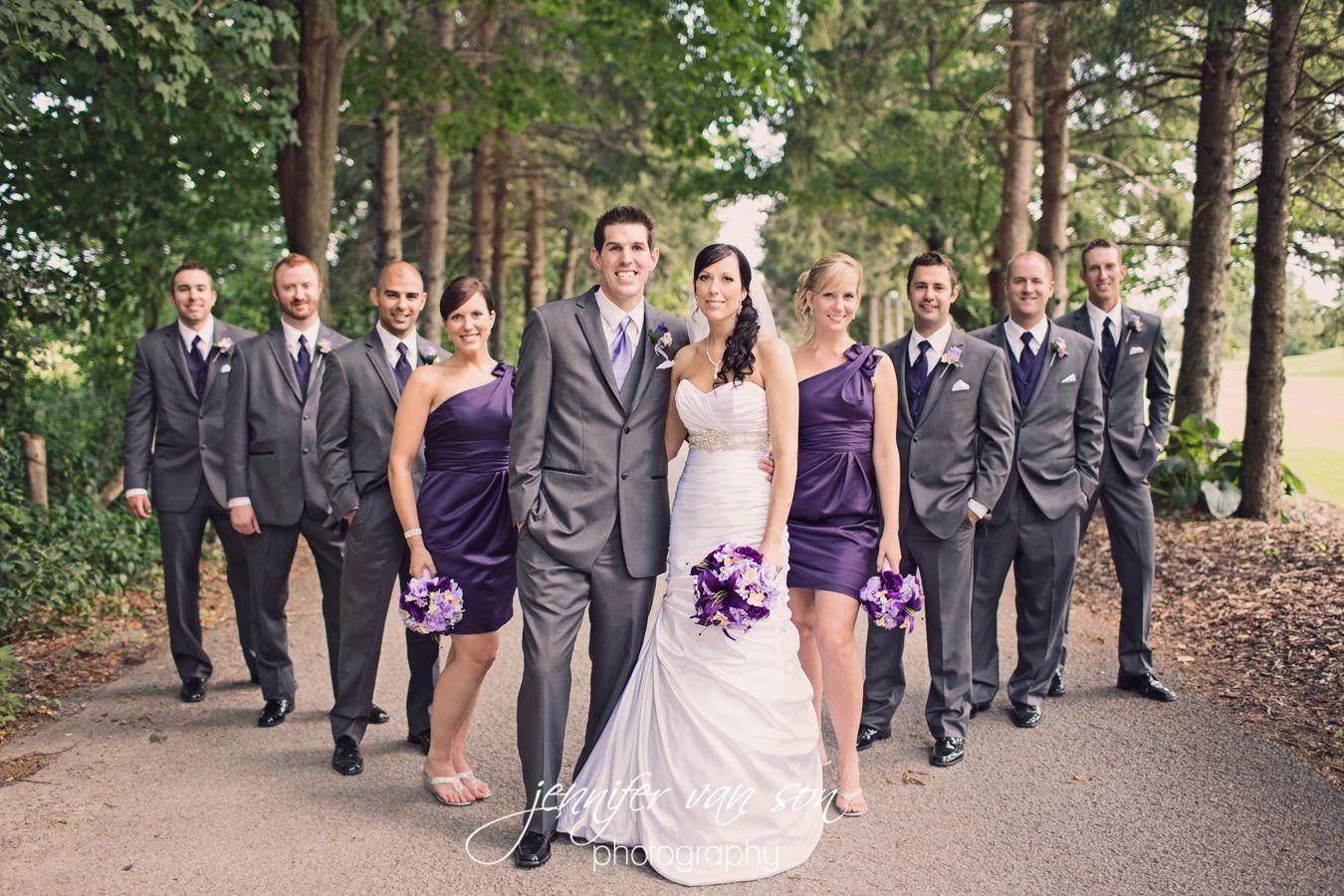 Gray Tuxedo With Purple