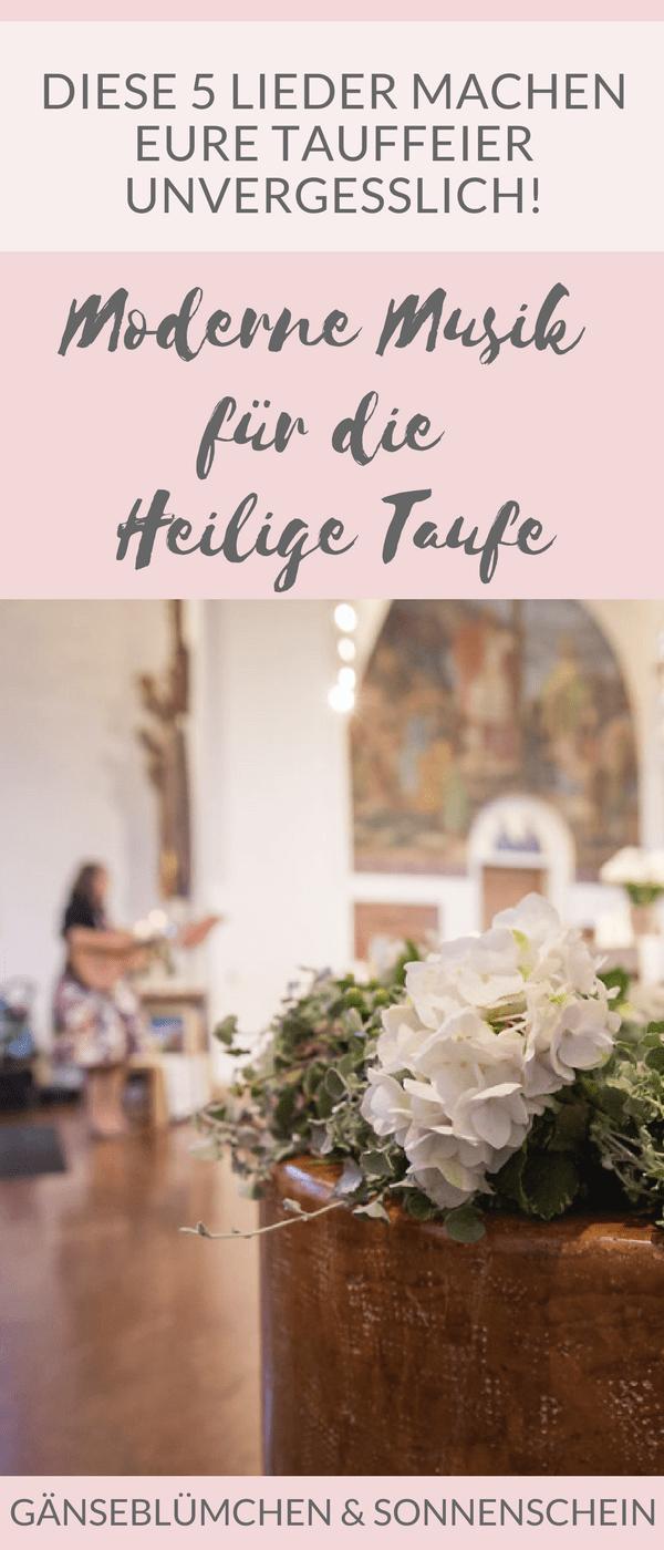 Moderne Musik Für Die Heilige Taufe Gänseblümchen