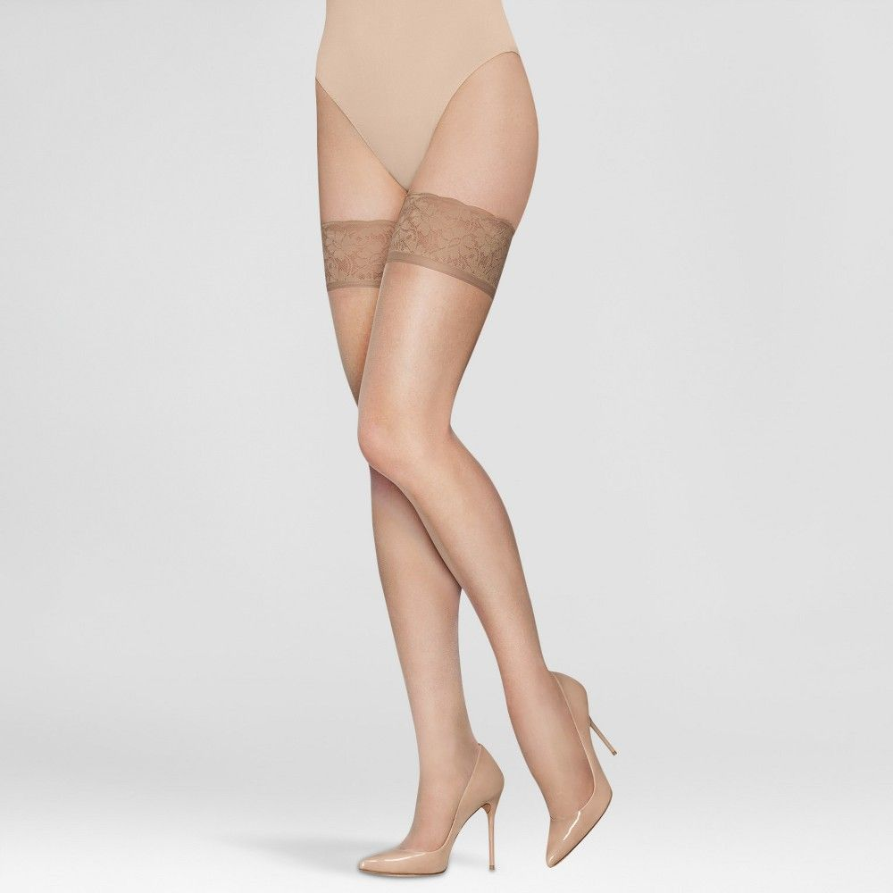 e9a2e6722ac Hanes Solutions Women s Sheer Thigh Highs - Beige M in 2019 ...