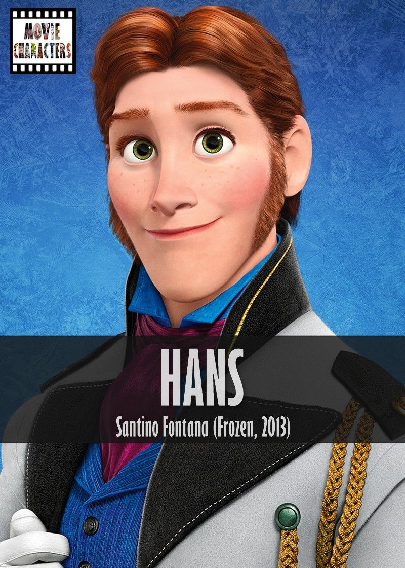 HANS Played By: Santino Fontana (Voice) Film: Frozen Year ...