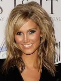 medium length hairstyles with bangs round face ash blonde for women 2015 - Google Search
