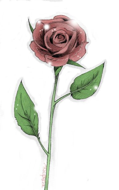 Single Rose Tattoo Designs Long Stem Rose By Manden Tattoo Ideas