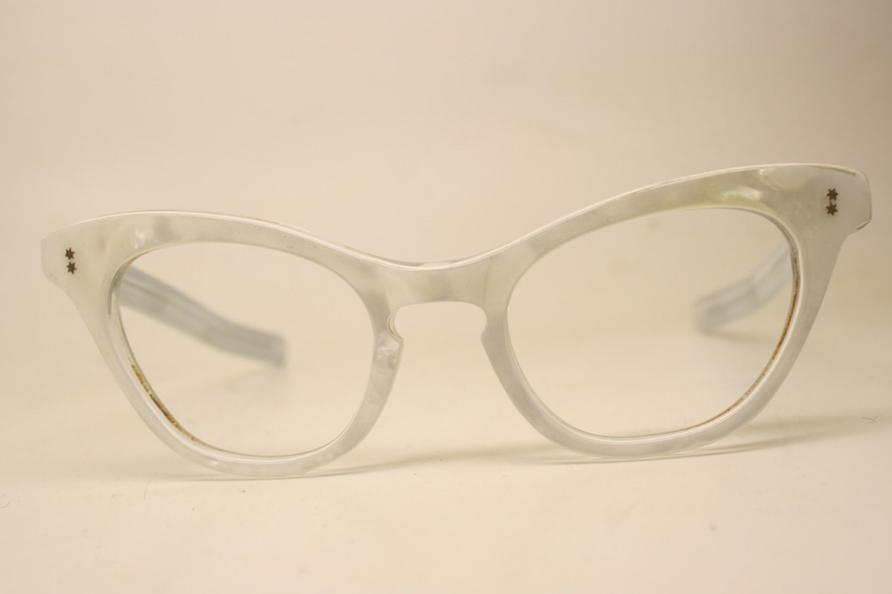 05c964e98b Unused White Vintage Cat Eye Glasses New Old Stock - Cat eye glasses -  Vintage eyeglasses