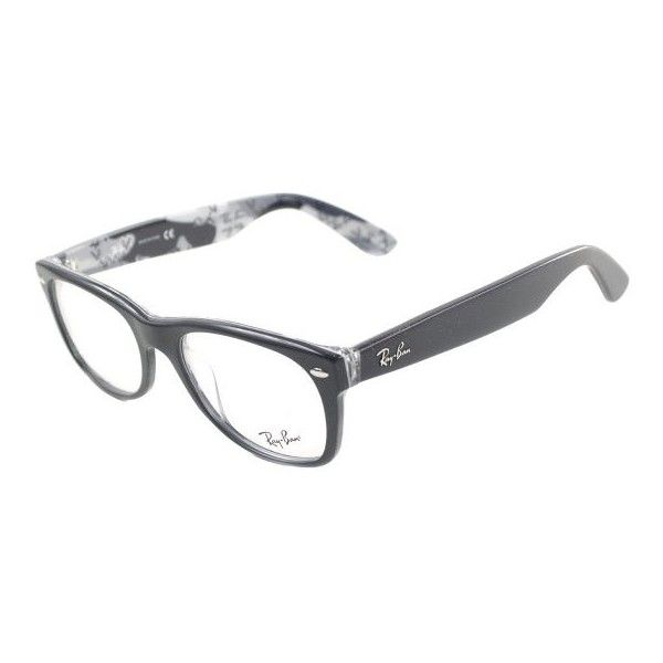 3bd16b48f2 Ray-Ban Ray Ban RX5184 New Wayfarer 5405 Top Black On Camouflage... ( 156)  ❤ liked on Polyvore featuring accessories