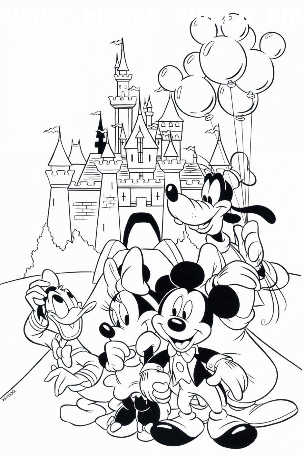 6 Walt Disney World Coloring Pages in 2020 | Mickey mouse ...