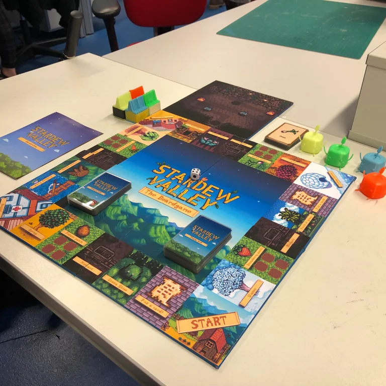 Stardew Valley board game we made for a school project
