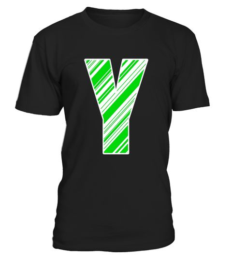 alphabet y letter christmas green candy cane initial shirt special offer not available