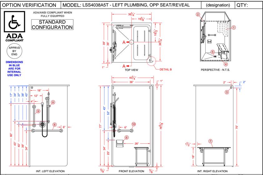 Ada Measurement Requirements 2015 Shower