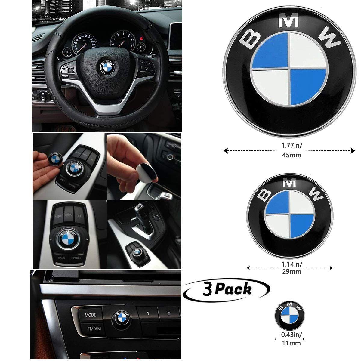 3piece Diy Bmw Steering Wheel Emblem Decal Bmw Multimedia Center