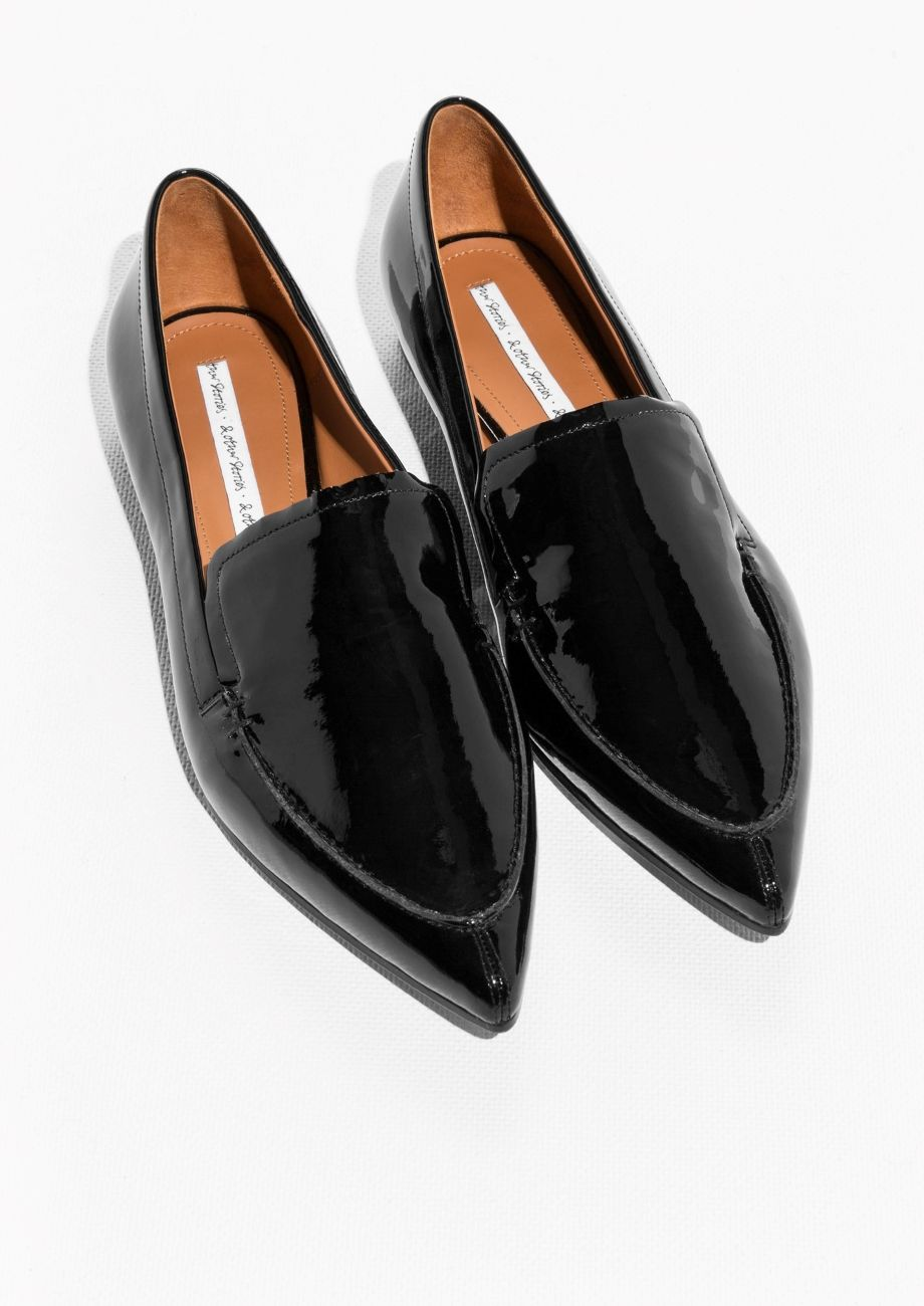 & OTHER STORIES Slip On Leather Loafers