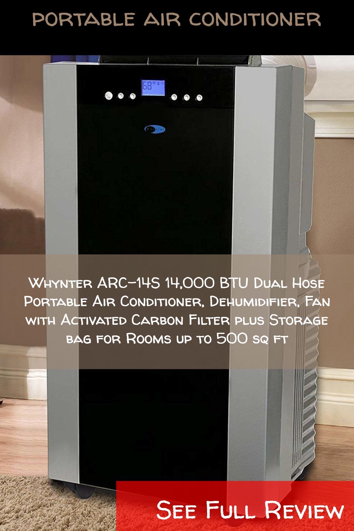 Portable Air Conditioners Whynter Arc 14s 14 000 Btu Dual Hose