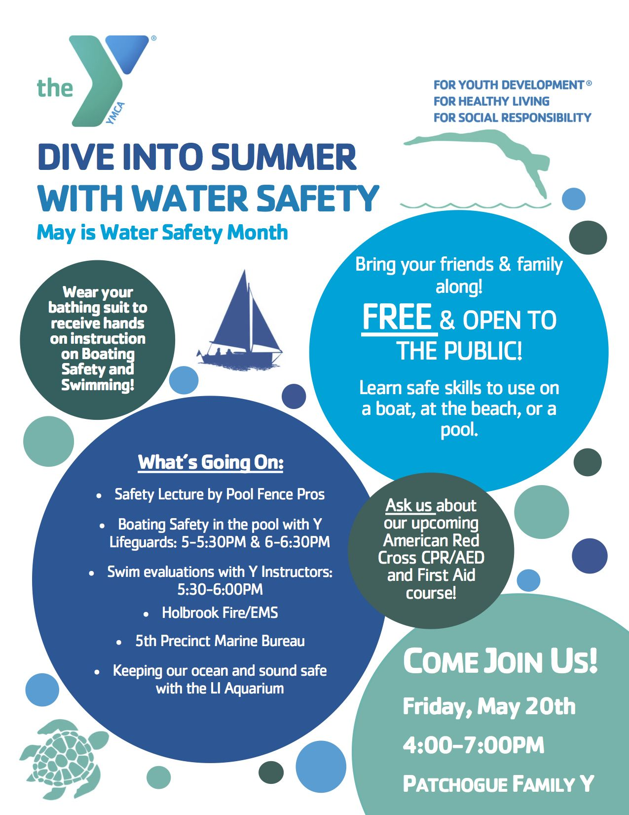 The YMCA's FREE Water Safety Day Water safety, Water