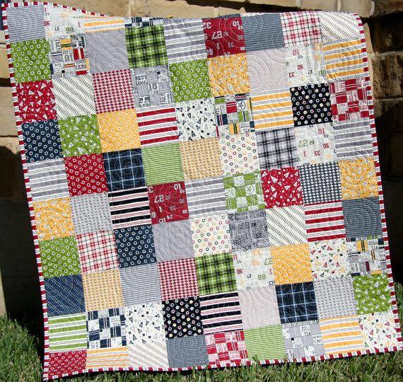 Last One Sports Quilt Kit Varsity Sweetwater Moda Fabrics