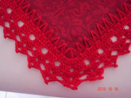 Resultado de imagem para bico de croche para toalha de mesa com canto