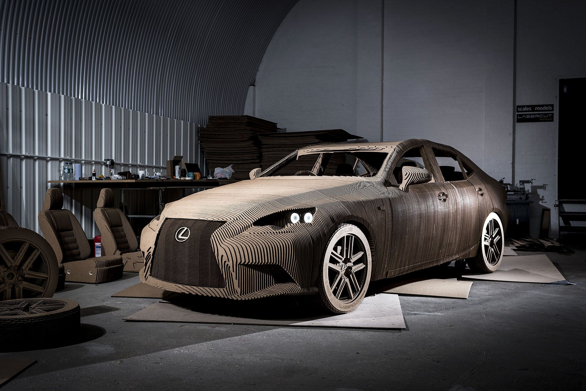 Comprised of some 1700 individually shaped pieces of cardboard, this origami-inspired car is a faithful replica of the #LexusIS saloon, and is produced as a celebration of the human craftsmanship skills that go into every car #Lexus makes. #CreatingAmazing. #Design #Art #Technology #Craftsmanship #Origami #Sculpture #OrigamiCar