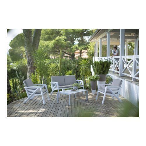 Salon de jardin Lounge Sunday Barcelone - 1 canapé + 2 ...