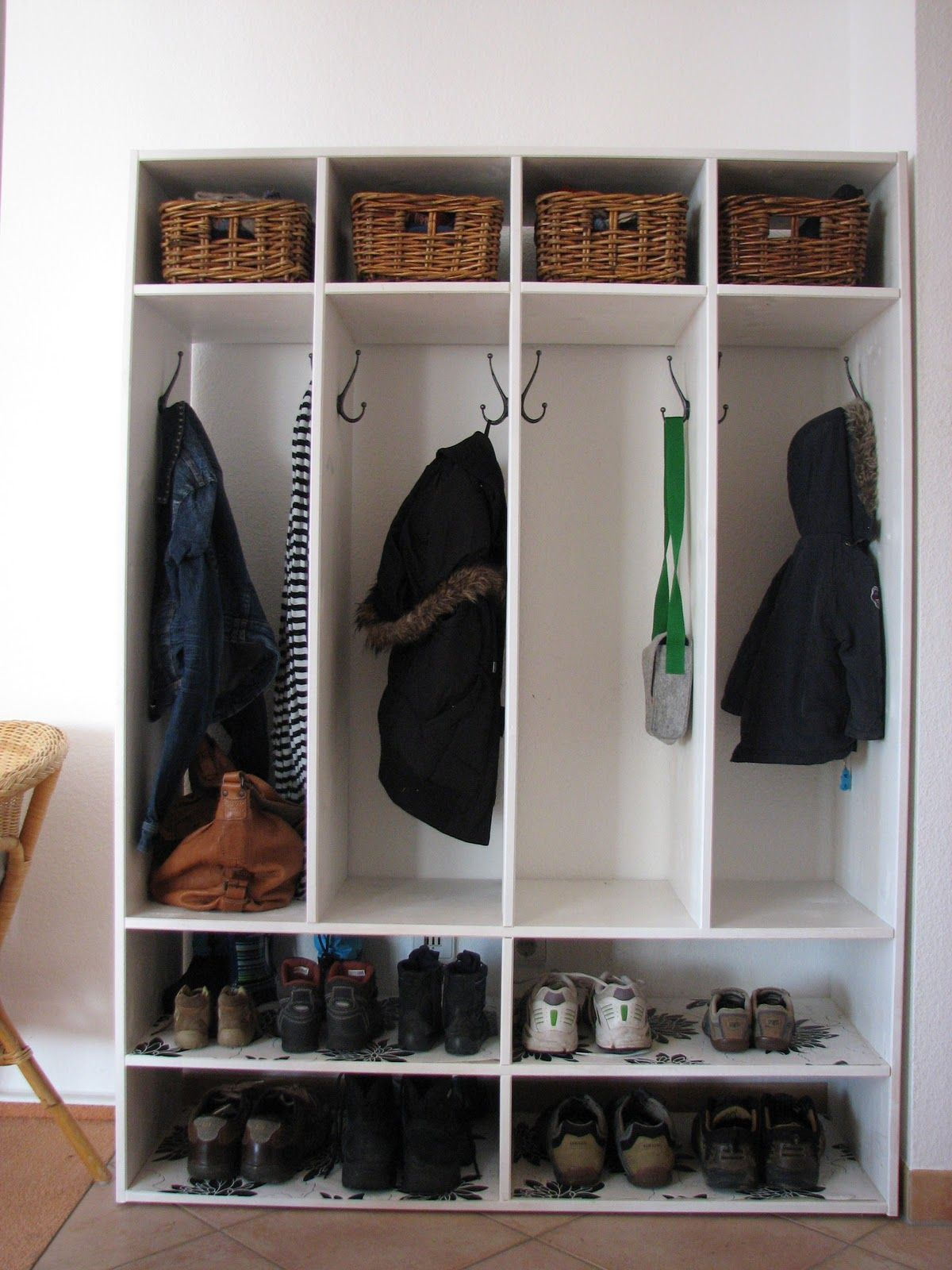 Living In Diy Shoe Coat Rack For The Home Pinterest