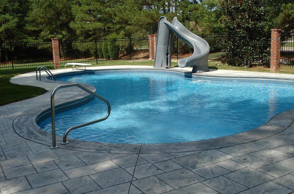 Residential Swimming Pool Slides Backyard Pool Landscaping