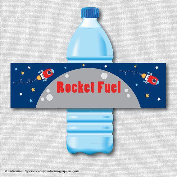 Water Bottle Rocket Ideas: Art Birthday Water Bottle Labels