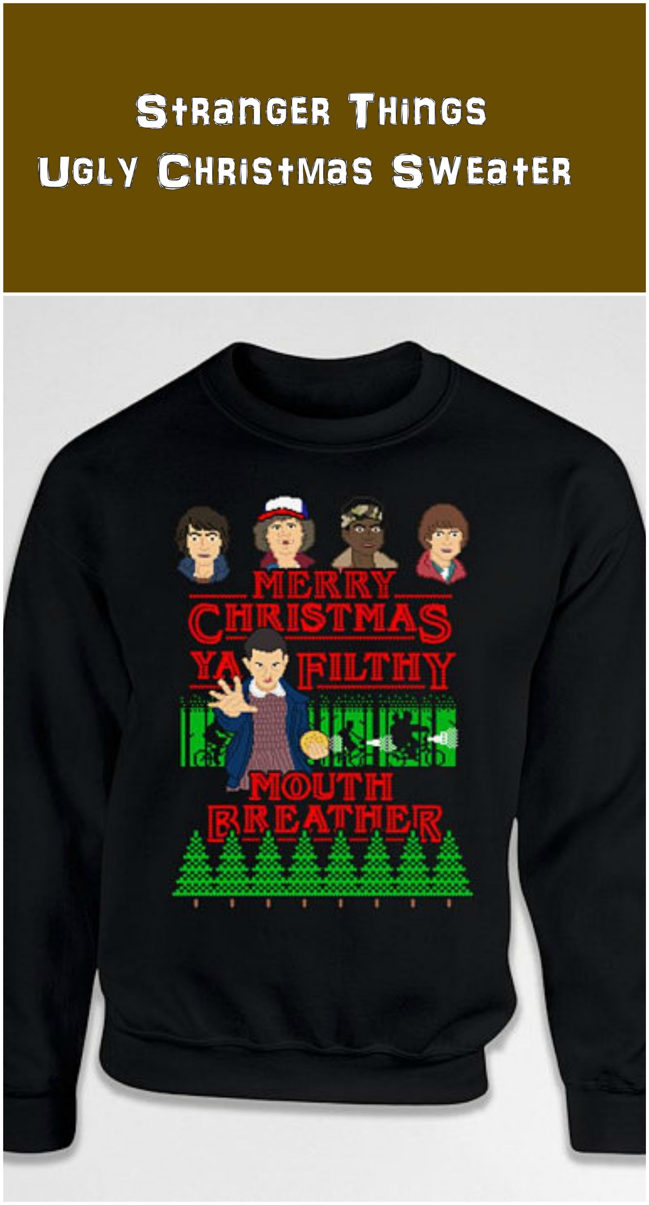 74fd4d8f8 Ugly Christmas Sweater Gifts For Stranger Things Fans Holiday Jumper Xmas  Pullover Christmas Present Hoodie Crewneck Sweatshirt affliate