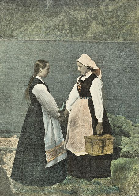 Girls with tine in Sognefjord norway c 1890 by Antiller, via Flickr