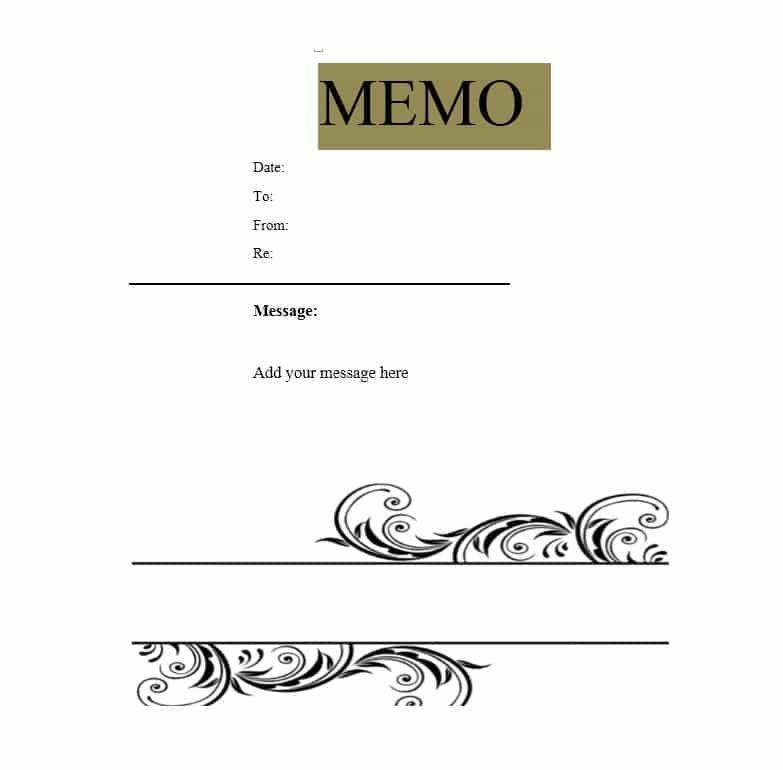 Sample Business Memo Templates Example Doc Word PDF   - Sample Business Memo