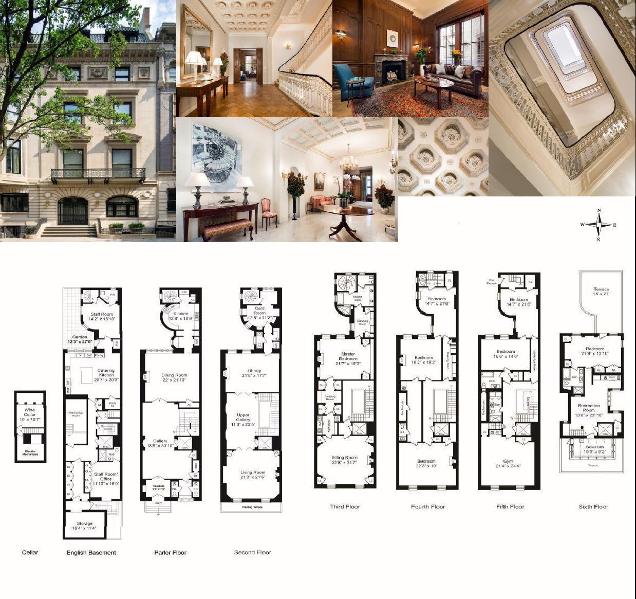 Upper East Side Mansion With Secret Tunnels Seeks 50m Small Apartment Building Plans Architectural Floor Plans Secret House